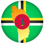 Button Dominica — Stock Vector