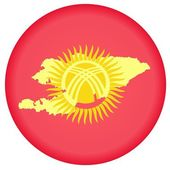 Button Kyrgyzstan — Stock Vector