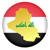 Button Iraq — Stock Vector