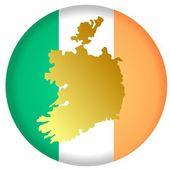 Кнопка Ирландии — Cтоковый вектор