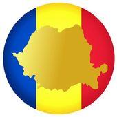 Button Romania — Stock Vector