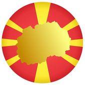 Button Macedonia — Stock Vector