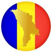 Button Moldova — Stock Vector