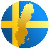 Button Sweden — Stock Vector