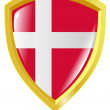 Stock Vector: Golden emblem of Denmark