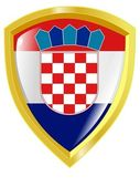 Golden emblem of Croatia — Stock Vector