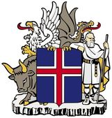 Coat of arms of Iceland — Stock Vector