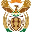 National emblem of South Africa - Stock Vector