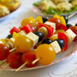 Shashlik from olives — Stock Photo
