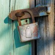Old rusty lock — Stock Photo