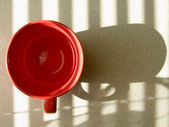 Red round cup — Stock Photo