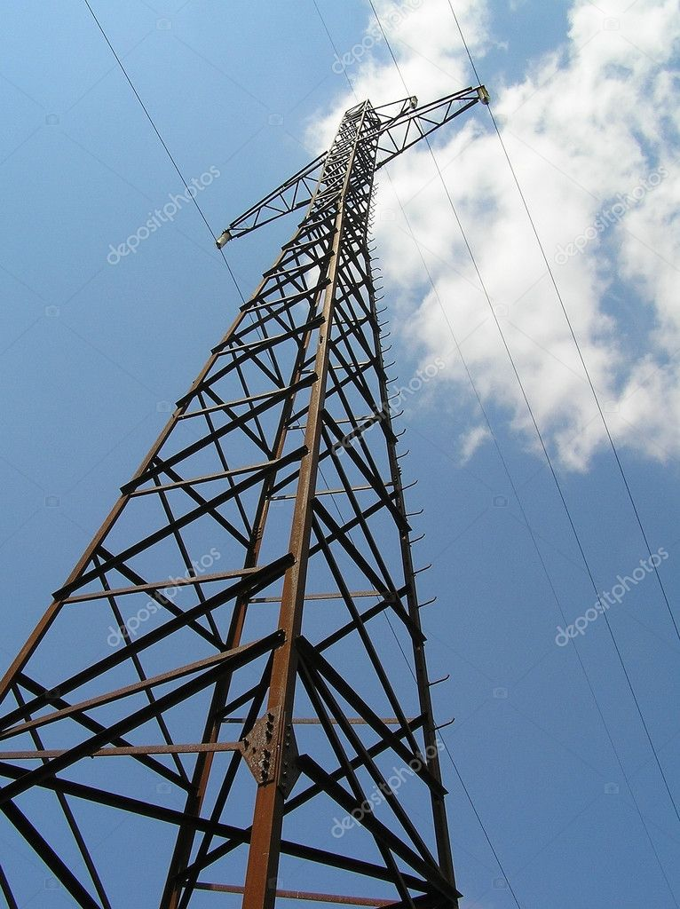 Support of electric mains on a background of the sky — Stock Photo #1313542