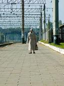 On platform — Stock Photo