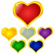 Colored heart — Vector de stock