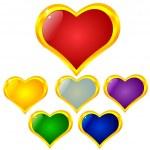 coeur couleur — Vecteur