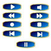Media bar buttons — Stock Vector