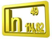 Indium — Stock Photo