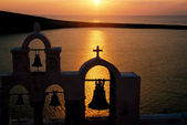 Sunset on Santorini, Greece — Stock Photo