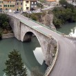Bridge in Sisteron, the French Alpes - Stock Photo