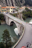 Bridge in Sisteron, the French Alpes — Stock fotografie
