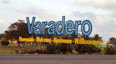 Varadero - Letters on entrance — Stock Photo