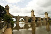 Bridge Valetre in Cahors town (3) — Stock Photo