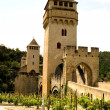 Stock Photo: Bridge Valetre in Cahors, France (1)