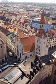 Tile roofs of Munich, Germany (2) — Stock Photo