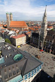 Marienplatz square in Munich (Munchen) — Stock Photo