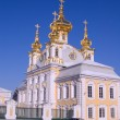 Gold domes of Russian Church — Stock Photo #1343516
