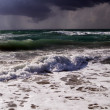 Sea surf in a thunder-storm — Stock Photo