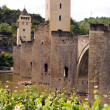 Stock Photo: Bridge Valetre in Cahors town (4)