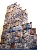 Boxes of port cargoes, Havana, Cuba — Stock Photo