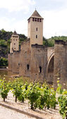 Bridge Valetre in Cahors town (4) — Stock Photo