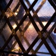 Stock Photo: Medieval window in winter evening