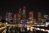 Singapore - city center, night view — Stock Photo