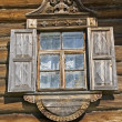 Window in old timbered wall — Stock Photo