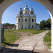 Stock Photo: Orthodox church in island Konevets