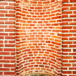 Empty niche for statue in brick wall — Stock Photo #1592805