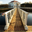 Stockfoto: Bridge with white handrail