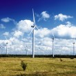 Wind power stations - Stock Photo