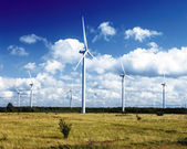 Wind power stations — Stock Photo