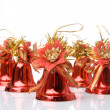 Many christmas handbells — Stock Photo