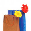 Stock Photo: Two paper bags for gifts