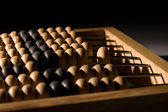 Obsolete wooden abacus — Stock Photo