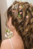Bride hairdo — Stock Photo