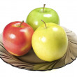 Apples on plate — Stock Photo