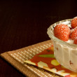 Strawberries with cream — Stockfoto #1554504