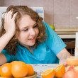 Girl in kitchen — Stock Photo #1644112