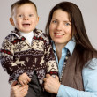 Smiling mother with son — Stock Photo #2377204